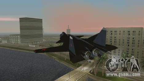 Su-47 Berkut for GTA Vice City left view