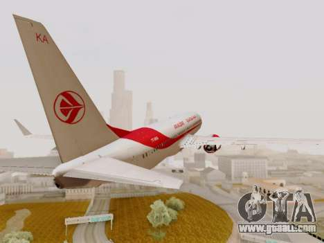 Boeing 737-800 Air Algerie for GTA San Andreas inner view