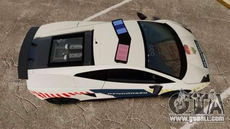 Lamborghini Gallardo Hungarian Police [ELS] for GTA 4 right view