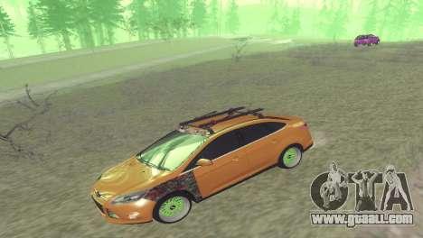 Ford Focus Sedan Hellaflush for GTA San Andreas back left view