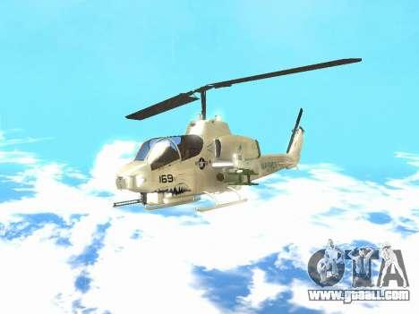 AH-1W Super Cobra for GTA San Andreas left view