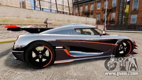 Koenigsegg One:1 for GTA 4 left view