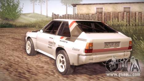 Audi Sport Quattro 1984 for GTA San Andreas back left view