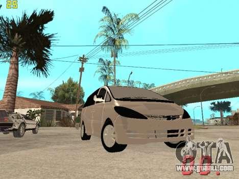 Toyota Estima KZ Edition 4wd for GTA San Andreas side view