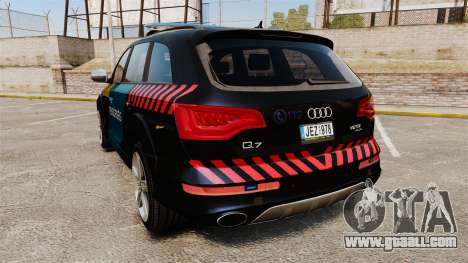Audi Q7 Hungarian Police [ELS] for GTA 4 back left view