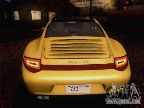 Porsche 911 Targa 4S for GTA San Andreas upper view