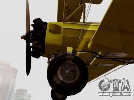 Grumman G-164 AgCat for GTA San Andreas back view