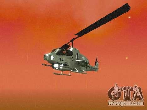 AH-1W Super Cobra for GTA San Andreas upper view