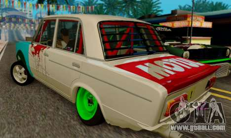VAZ 2106 Cramps for GTA San Andreas back view