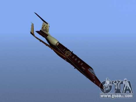 Bombardier Learjet 45 for GTA San Andreas side view