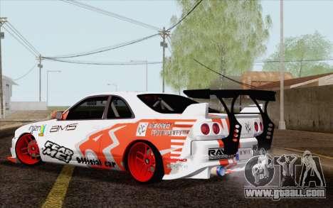 Nissan Skyline GT-R32 for GTA San Andreas left view