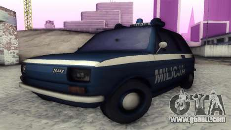 Fiat 126p milicja for GTA San Andreas left view