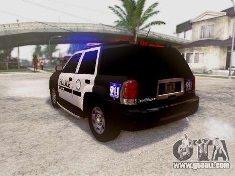 Chevrolet TrailBlazer Police for GTA San Andreas back left view