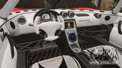Koenigsegg Agera R [EPM] NFS for GTA 4 inner view