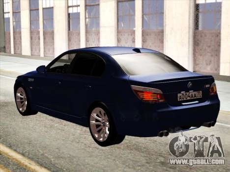 BMW M5 E60 2010 for GTA San Andreas back view