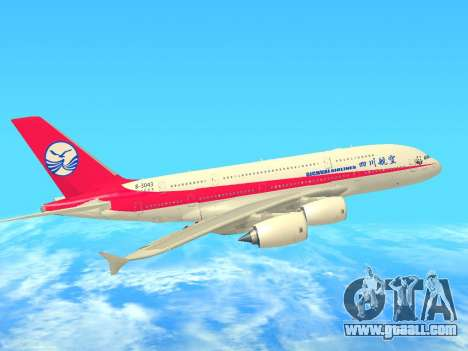 Airbus  A380-800 Sichuan Airlines for GTA San Andreas inner view