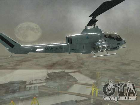 AH-1W Super Cobra for GTA San Andreas side view
