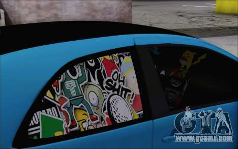 Toyota Yaris Hellaflush Young Child for GTA San Andreas right view