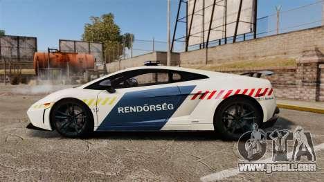 Lamborghini Gallardo Hungarian Police [ELS] for GTA 4 left view