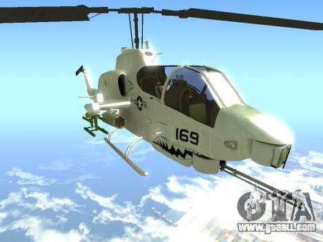 AH-1W Super Cobra for GTA San Andreas right view