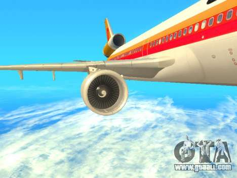 McDonnell Douglas MD-11 Continental Airlines for GTA San Andreas right view