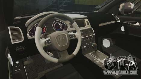 Audi Q7 Hungarian Police [ELS] for GTA 4 inner view