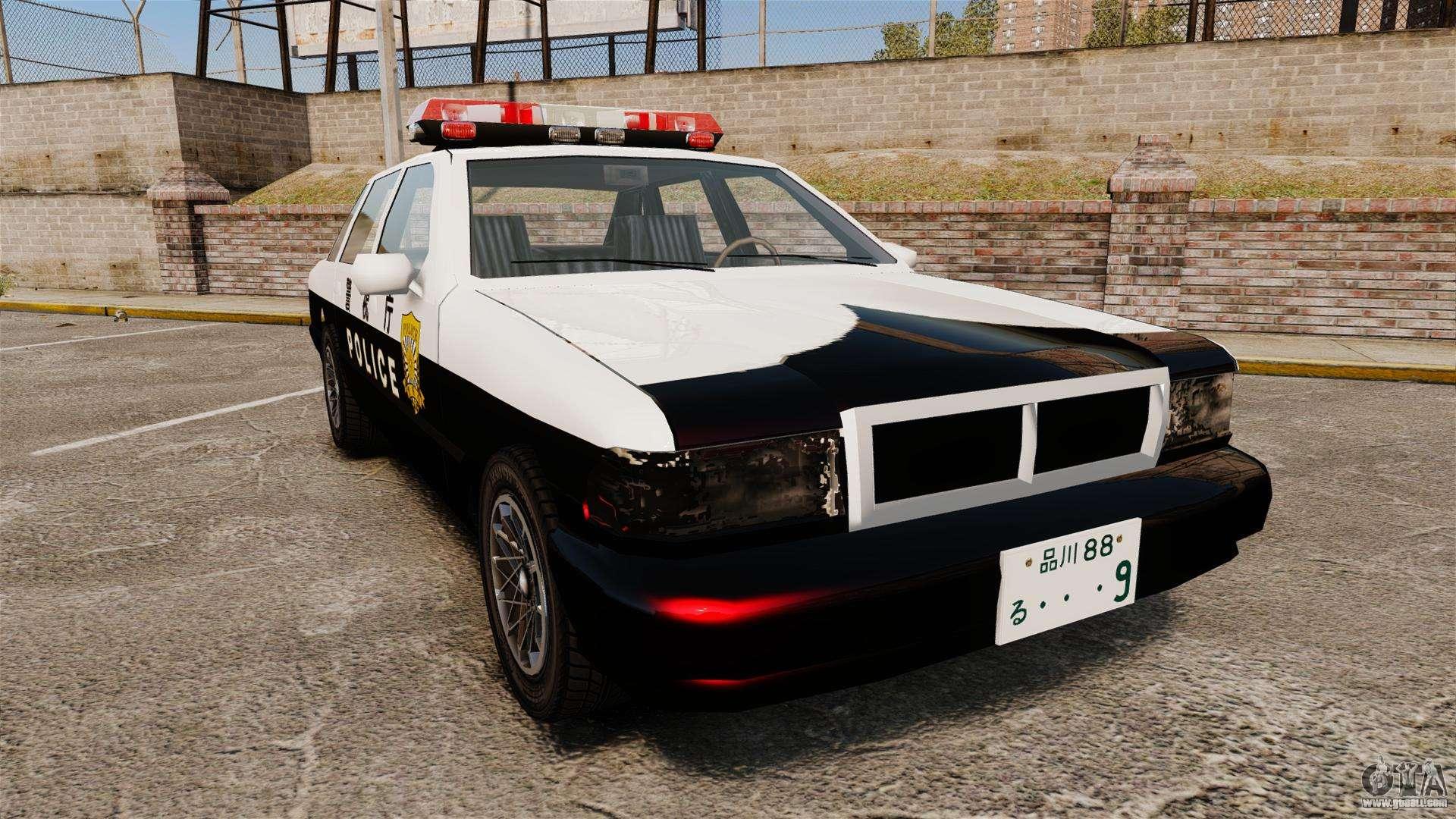 GTA SA Japanese Police Cruiser ELS for GTA 4