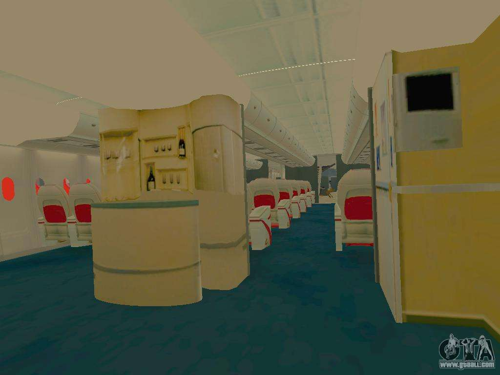 Airbus a380 800 sichuan airlines for gta san andreas for Gta sa plane interior mod