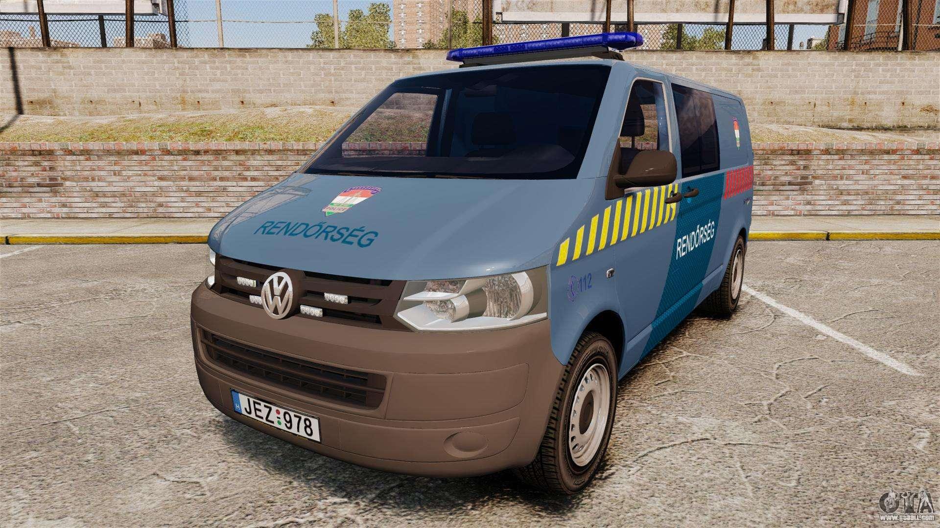 volkswagen transporter t5 hungarian police els for gta 4. Black Bedroom Furniture Sets. Home Design Ideas