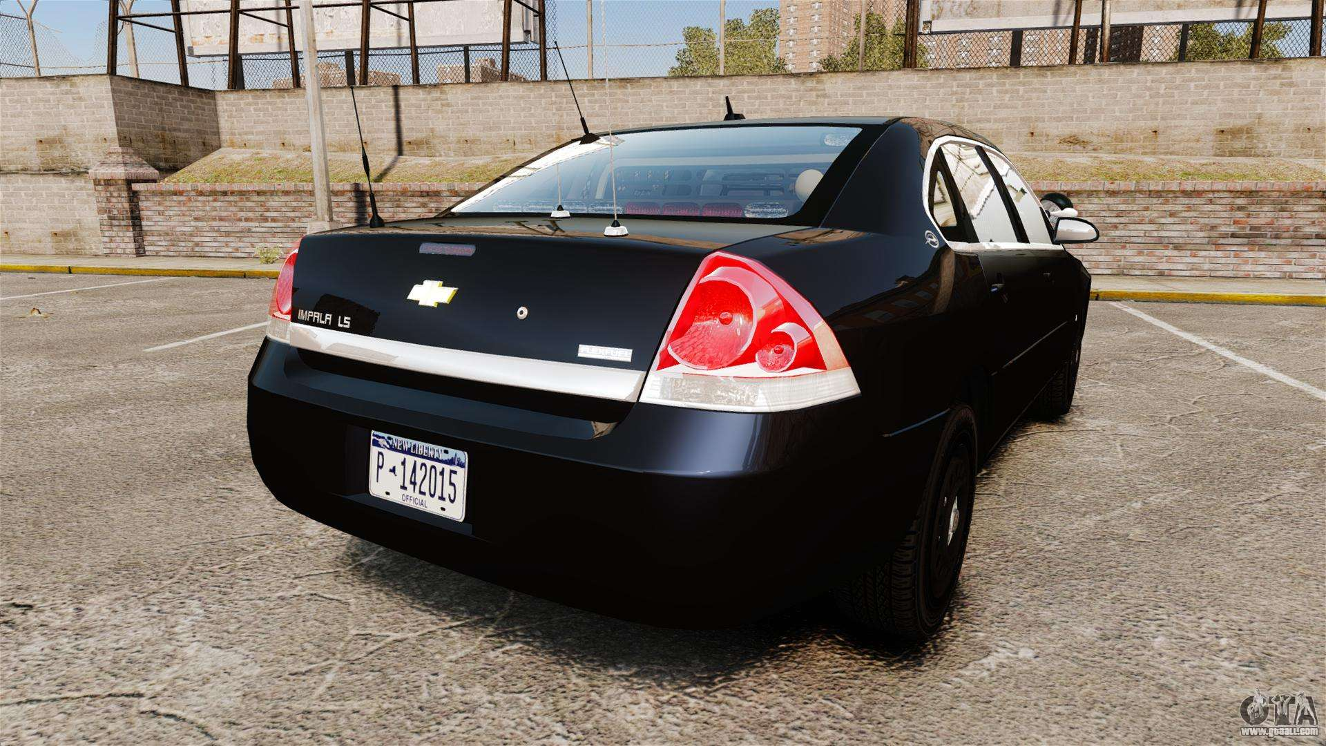 Chevrolet impala 2010 ls unmarked k9 unit els for gta 4 back left view