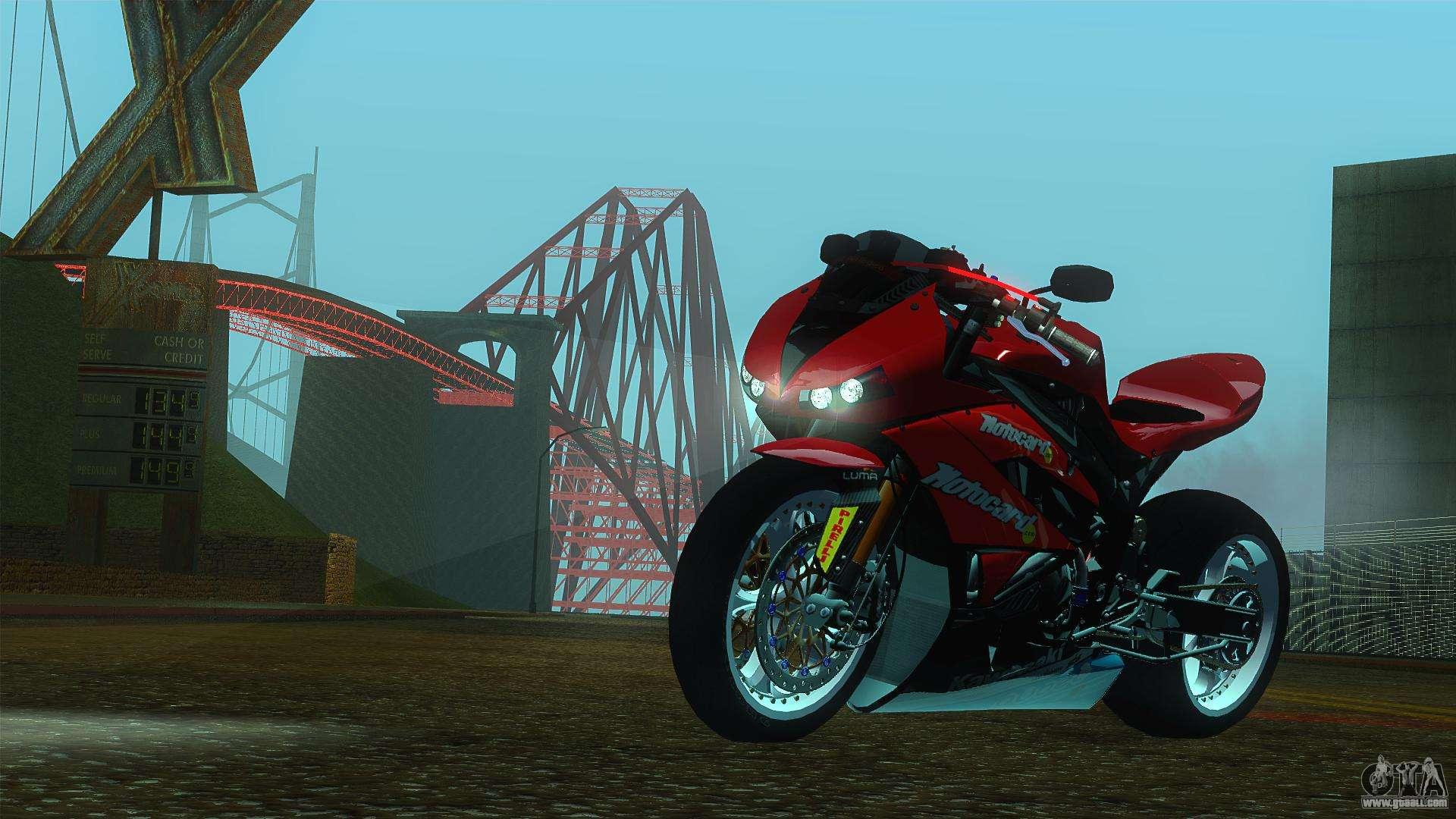Kawasaki Ninja H2r >> Kawasaki Ninja ZX-6R for GTA San Andreas