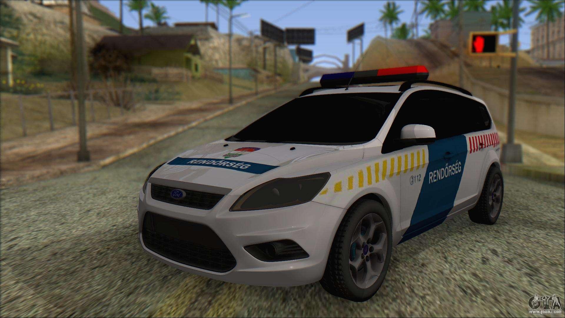 Ford Focus 2008 Station Wagon Hungary Police for GTA San ...