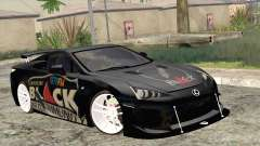 Lexus LFA Street Edition Djarum Black for GTA San Andreas