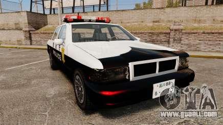 GTA SA Japanese Police Cruiser [ELS] for GTA 4