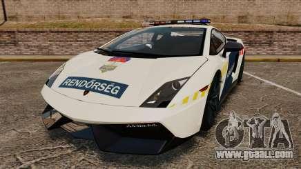 Lamborghini Gallardo Hungarian Police [ELS] for GTA 4