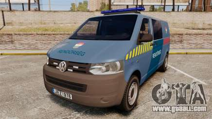 Volkswagen Transporter T5 Hungarian Police [ELS] for GTA 4