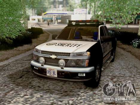 Chevrolet Colorado Sheriff for GTA San Andreas side view
