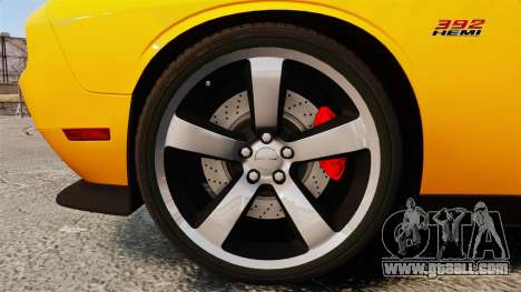 Dodge Challenger SRT8 2012 for GTA 4 back view