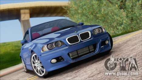 BMW M3 E46 2002 for GTA San Andreas back view