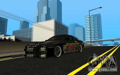Nissan Silvia S14 Monster Energy KENDA Tire for GTA San Andreas inner view