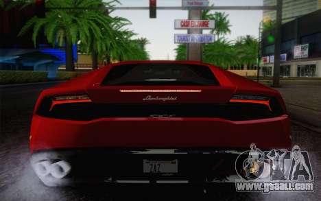 Lamborghini Huracan 2013 for GTA San Andreas bottom view