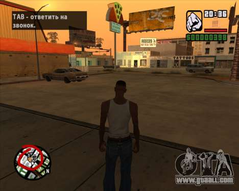 Icons radar of the mobile version of the game for GTA San Andreas third screenshot