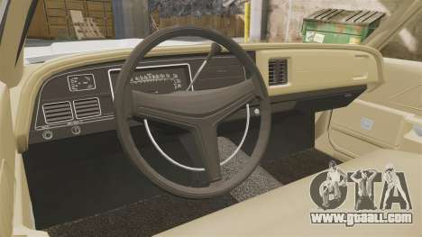 Dodge Monaco 1974 for GTA 4 back view