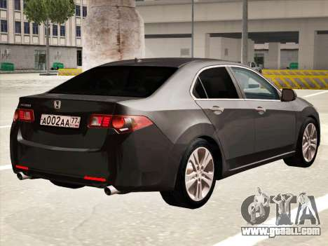 Honda Accord 2009 for GTA San Andreas back view