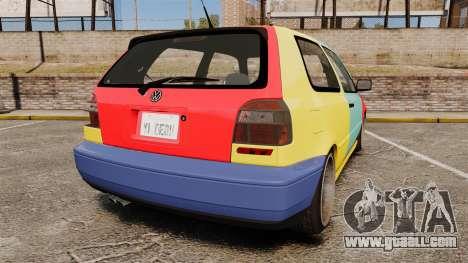 Volkswagen Golf MK3 Harlequin for GTA 4 back left view