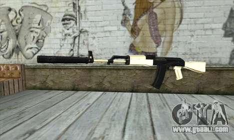 Golden AK47 for GTA San Andreas