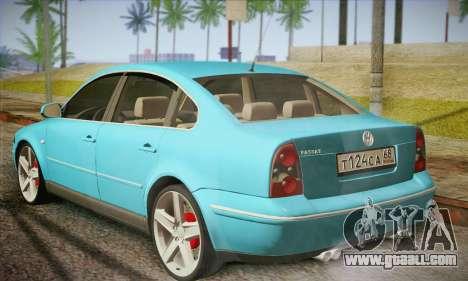 Volkswagen Passat for GTA San Andreas back left view