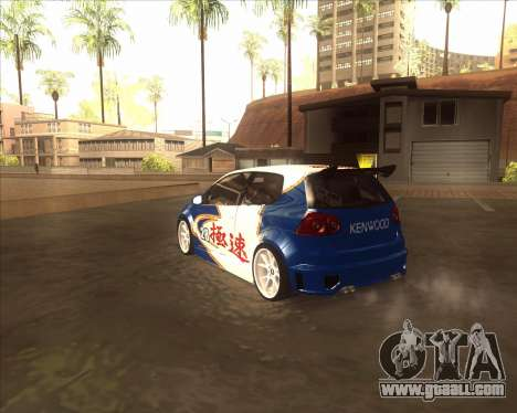 Volkswagen Golf из NFS Most Wanted for GTA San Andreas back left view