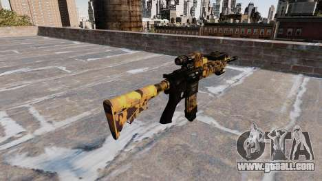 Automatic rifle Colt M4A1 Fall Camos for GTA 4 second screenshot