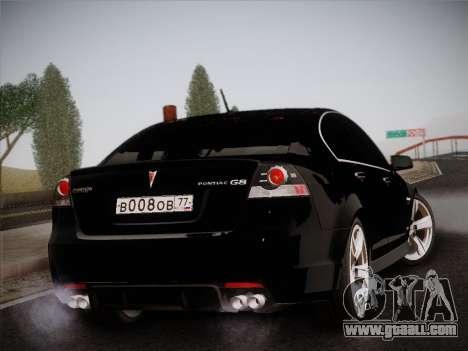 Pontiac G8 GXP 2009 for GTA San Andreas inner view